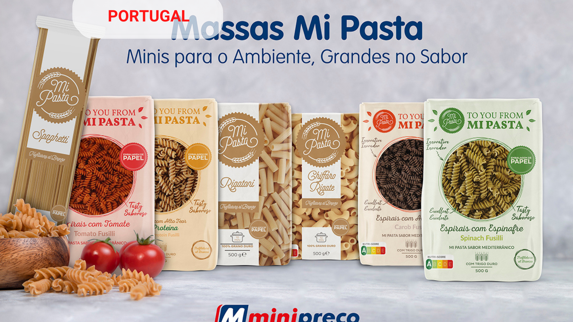 Joint launch of the brand Mi Pasta and Minipreço